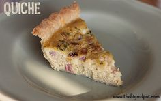 Ham and Cheese Quiche -4 Weight Watchers Points Plus per slice