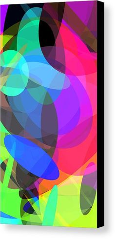 Ellipses 3 Canvas Print by Chris Butler.  #art #abstract #artdeco #design #interior #home #Decor #wall #modern #contemporary #homedecor #abstractart #interiordesign #simple #canvas #print #geometric #cubism #abstracts #colorful #vibrant #vivid #ellipse #ellipses #ovals #circles