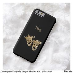 Comedy and Tragedy Unique Theater Monogram Barely There iPhone 6 Case  #shopping #leatherwooddesign