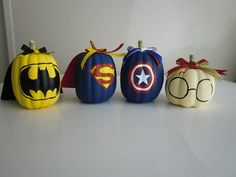 Nerdy painted pumpkins I made! #pumpkins