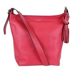Coach legacy leather duffle tote - Pink Scarlet Great condition 07434467c2a47