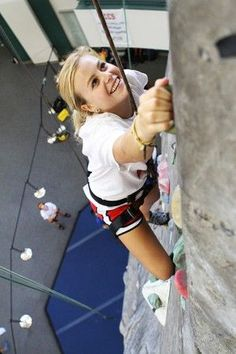 Baylor's rock wall in the SLC // You should try your hand at the rock at least once before graduation!