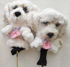 Personalised Golf club head cover - Novelty Animal ,Cockapoo dog for girls , golf accessories ,golfer gift Gifts For Golfers, Golf Gifts, Craft Fur, Cockapoo Dog, Basic Dog Training, Golf Club Head Covers, Gifts For Girls, Dog Grooming, Golf Clubs