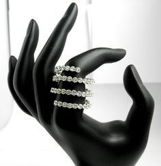 JUST IN TIME FOR THE HOLIDAYS!  Crystal Spiral Ring Swarovski Clear Crystal by MarisaDianeDesigns, $75.00