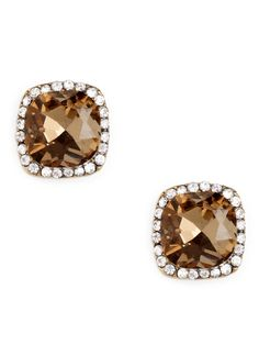 We're mad for this beefed-up version of the typical diamond stud. Not only are the gemstones flawless and expertly faceted for extra sparkle, but they're surrounded by even more dazzling finery.  This is part of the ELLE Holiday Shop