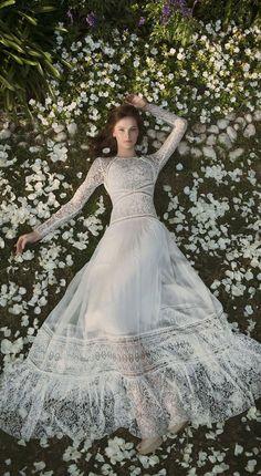 Long sleeves bohemian wedding dress : Eisen Stein Wedding Dresses - Bohemian Fest #weddingdress #weddinggown #bridalgown #bohemainweddinggown