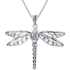 Shop the latest collection of Jewelry Trends Sterling Silver Celtic Triskele Dragonfly Pendant Necklace 18 from the most popular stores - all in one place. Similar products are available. Dragonfly Necklace, Dragonfly Pendant, Moon Necklace, Silver Chain Necklace, Pendant Necklace, Celtic Knot Jewelry, Mother Of Pearl Jewelry, Religious Jewelry, Necklace Types