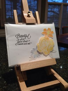 """Yellow flower """"Any occasion"""" card"""
