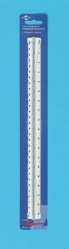 High Impact Engineer Triangular Scale (Set of 3)