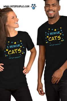 """""""I rescue cats, what's your superpower?"""" This cute t-shirt with its colorful design and sweet message is purrfect for cat parents, especially foster cat parents who are doing an amazing job of rescuing cats and giving them a better life. That's a true superpower! A great piece for cat lovers, and a touching gift for the foster cat parent in your life! #catmomtshirt #catladytshirt #catmomfashion #rescuecat #fostercatmom #kittenfoster #catrescue #tshirt"""