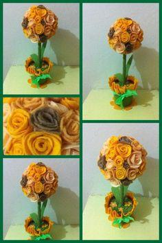Mini felt topiary