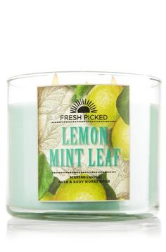 Lemon Mint Leaf scent from Bath & Body Works. So refreshing and soothing! Love these candles! Bath Candles, 3 Wick Candles, Scented Candles, Bath N Body Works, Bath And Body, Smell Good, Shower Gel, Me Time, A Boutique
