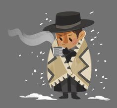 Tinysnails: i can't get over how ridiculously GREAT The Hateful Eight is– my favorite character is definitely Chris Mannix. Do yourself a favor and go see it!