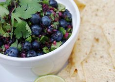 The Kitchen is My Playground: Blueberry Salsa.....looks sooo yummy and good for you!!