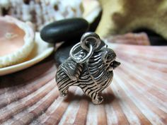 Sterling Silver Pomeranian Dog Charm 3D Figural 5.29 grams - pinned by pin4etsy.com