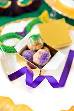 Mardi Gras King Cake Donuts Mini Size Find This Pin And More On Mardi Gras Party Ideas Recipes