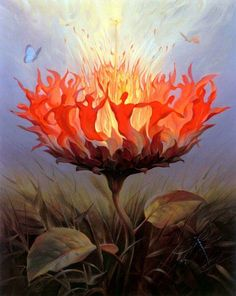 """Hard times require furious dancing.'' -Alice Walker  Artwork by Vladimir Kush"