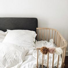 Adorable little baby things are slowly taking over the house! Meet the co-sleeper of all co-sleepers! Made of solid beechwood Eco-friendly & sustainably resourced Made without any harmful toxins The most aesthetically pleasing co-sleeper