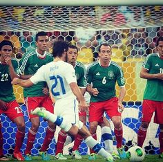 Pirlo's free kick against Mexico. Confederations Cup 2013