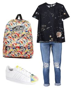 """09-01-2015"" by namiouou ❤ liked on Polyvore featuring Boohoo, adidas, Vans and Valentino"