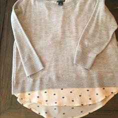 Cute club Monaco light spring sweater Light sweater with silk accent with the cutest little snails on it, come on! Club Monaco Sweaters Crew & Scoop Necks