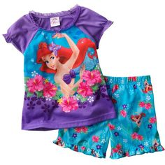 Disney Princess Ariel Pajama Set - Toddler (45 BRL) ❤ liked on Polyvore featuring baby, baby clothes, baby girl, kids and baby girl clothes
