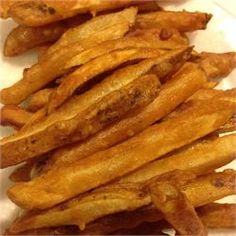 Homemade Crispy Seasoned French Fries - Allrecipes.com. UPDATE: Made this with Yukon Gold potatoes and they were the best fries I've ever made at home