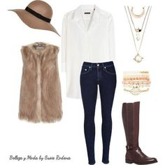 Cómo combinar chalecos de peluche - Outfit 4