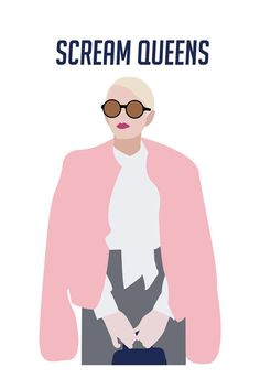 8x10 Chanel Scream Queens Art Print