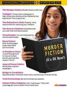 Young Adult Books in 19 Words Or Less