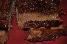 Beth's Favorite Recipes -Crockpot Brisket with ketchup, grape jelly, onion soup mix and pepper. Easy!