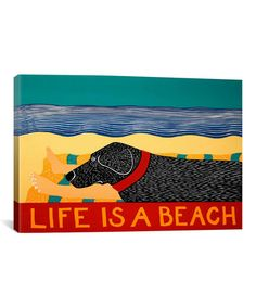 Love this 'Life Is a Beach' Gallery-Wrapped Canvas on #zulily! #zulilyfinds