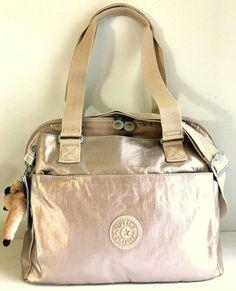 bd85b4dd70d3 KIPLING Felicity Shoulder Satchel Bag Sparkly Gold Nylon HB7470 Xbody Tote  NEW  Kipling  Satchel