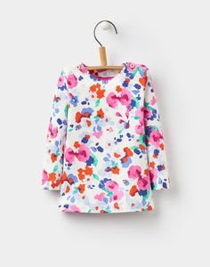 Harbour Tabitha Floral Creme Jersey Top  | Joules UK