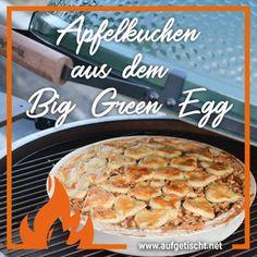 🍎🍏 Yummy! Gedeckter Apfelkuchen aus dem Big Green Egg! Dieser warme Apfelkuchen ist jede Sünde wert und auch die Nachbarn haben vom Duft ganz viel 😉 #apfelkuchen #applepie #biggreenegg #apfelkuchenvomgrill #rezept #apfelkuchenrezept #apfeldessert #foodblogger Green Eggs, Foodblogger, Desserts, Christmas, Kochen, Apple Crumble Recipe, Tailgate Desserts, Xmas, Deserts