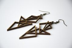 Lucent - kono and orca - Wooden, laser cut earrings