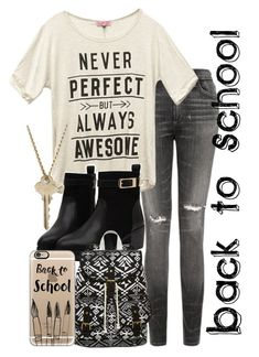 """Back to School"" by samirogers1104 ❤ liked on Polyvore featuring Citizens of Humanity, Wet Seal, SM New York, Casetify, The Giving Keys, women's clothing, women, female, woman and misses"