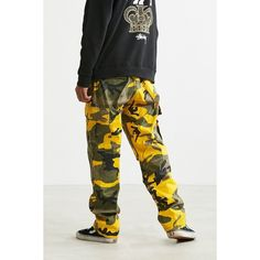 Rothco Camo Cargo BDU Pant ($59) ❤ liked on Polyvore featuring men's fashion, men's clothing, men's pants, men's casual pants, mens military style cargo pants, mens camouflage cargo pants, mens military cargo pants, mens camo cargo pants and mens cargo pants