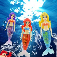 newest robot small mermaid fish tail swimming dolls colorful wig mermaid robofish child electronic pet toys 3 colors available Robot, Electronic Toys, Fishtail, Pet Toys, Bunt, Disney Characters, Fictional Characters, Wigs, Mermaid