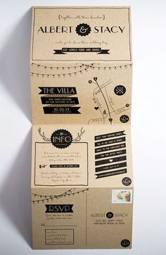 Fold out wedding invite
