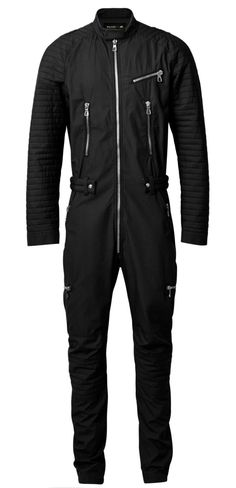 A roundup of the most over-the-top garments and accessories in the new Balmain x H&M collection, from a quilted overall with innumerable zippers, to a mini dress adorned with beads. Vogue Paris, Style Vintage Hommes, H&m Collaboration, Farm Clothes, Balmain Collection, Boiler Suit, Lookbook, Work Wear, Tulum