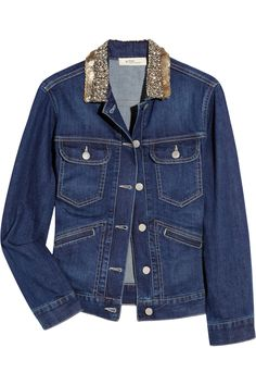 Étoile Isabel Marant|Pamina embellished denim jacket|NET-A-PORTER.COM