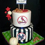 Baseball cake by Cakes By Roselyn