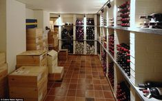 Thirsty: Horton Priory has an air-conditioned wine cellar which has space for hundreds of bottles