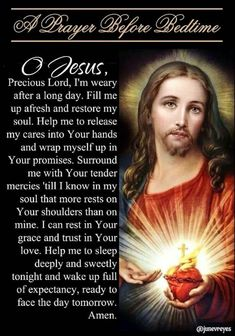 A Prayer Before Bedtime Prayer Scriptures, Bible Prayers, Catholic Prayers, Faith Prayer, God Prayer, Prayer Quotes, Bible Verses, Spiritual Prayers, Prayers For Healing