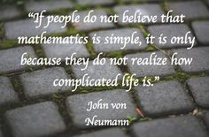 A very true #mathquote about math and life.