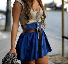 Girly adorable outfit that can be causal but also formal. The colors look adorable together!