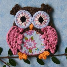 Applique Owl  Crochet Pattern by CAROcreated on Etsy, €6.00