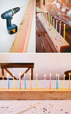 A festive DIY Candelabra for you next birthday bash! - - This diy candelabra is perfect for any birthday bash! This would be perfect for a diy sweet 16 candelabra to celebrate the big day! Festa Party, Diy Party, Birthday Bash, Birthday Parties, Birthday Message, Birthday Ideas, Birthday Quotes, Happy Birthday, 90th Birthday Gifts