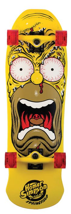 Santa Cruz - 9.5in x 31in Simpsons Homer Face skateboard Rob Roskopp style.